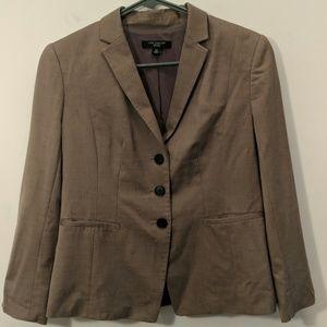Ann Taylor Brown Blazer Size 4P